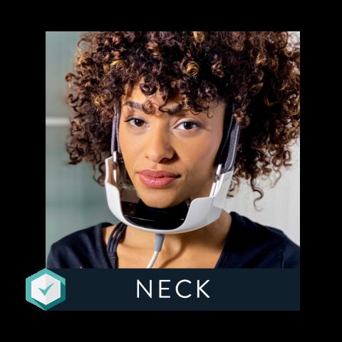 Evoke Neck applicator for remodeling skin on the neck